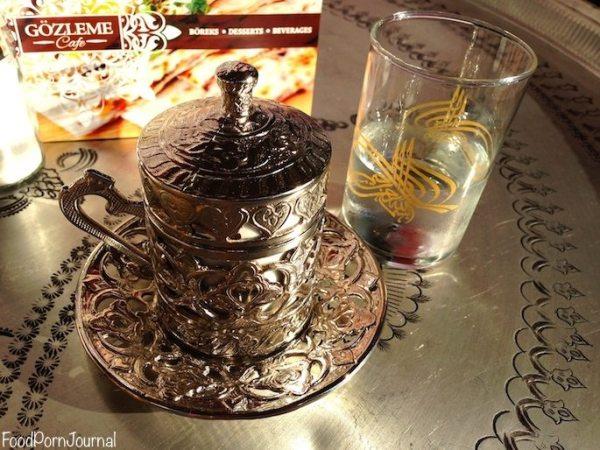 Gozleme cafe Turkish coffee