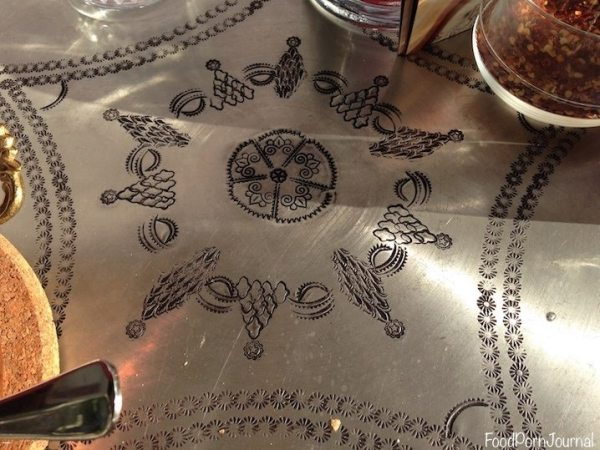 Gozleme cafe table top