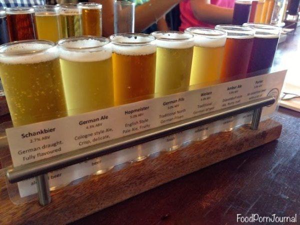 Zierholz Brewery beer tasting tray
