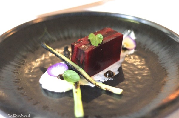 Boathouse by the Lake Canberra beetroot terrine