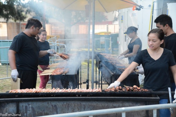 Enlighten Night Noodle Markets Hoy Pinoy bbq skewers