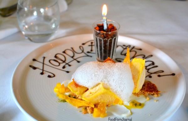 Eschalot Berrima mango slice dessert