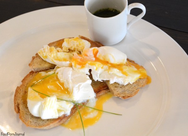 Wheat and Oats Phillip poached eggs on toast