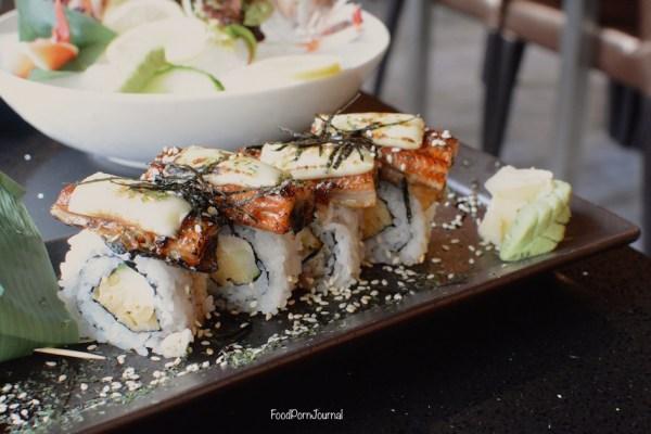 Bon Kura Dickson unagi cheese sushi roll