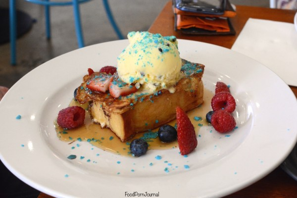 Fox and Bow Cafe brioche french toast popping candy