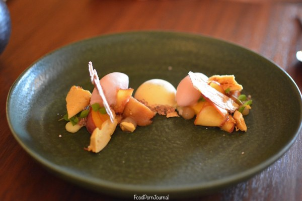 Pialiigo Estate Farmhouse white peach dessert