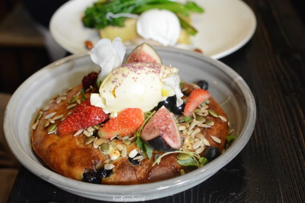 Top Paddock Melbourne ricotta blueberry hotcake