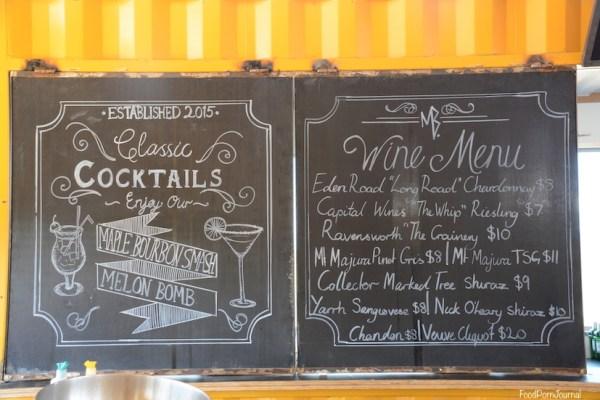 Westside Acton Aviary Bar menu