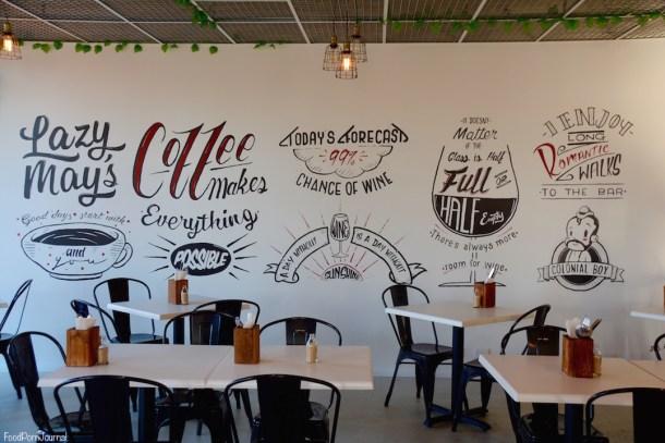 Lazy Mays Cafe Tuggeranong wall art