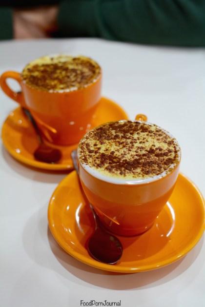 Paleo Cafe Braddon turmeric latte