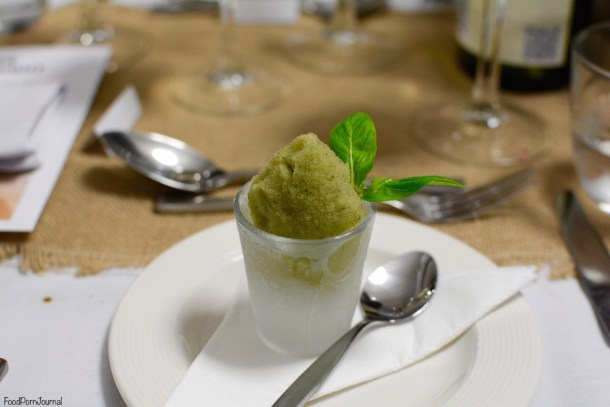 Southern Cross Yacht Club mint champagne sorbet