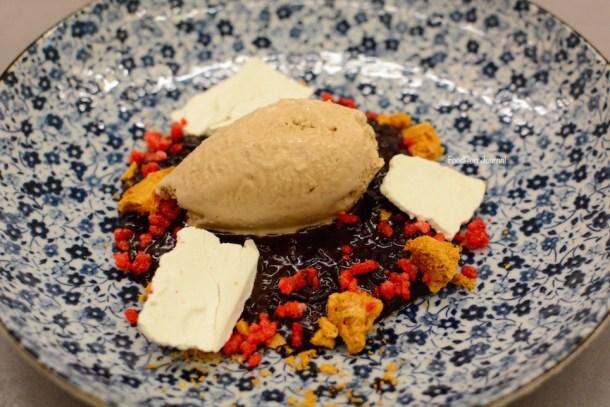 XO restaurant black rice pudding