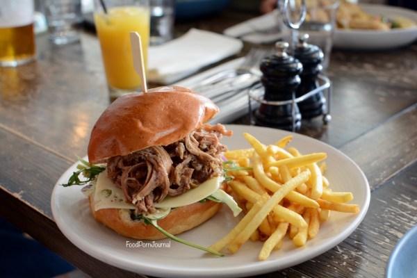 Walt and Burley Kingston pulled pork burger