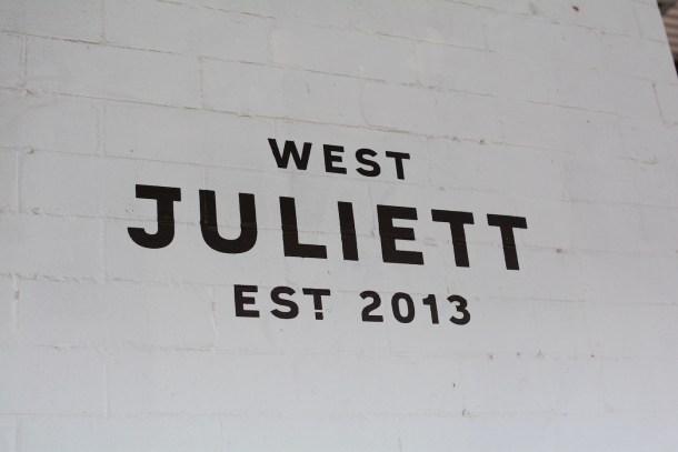 West Juliett sign