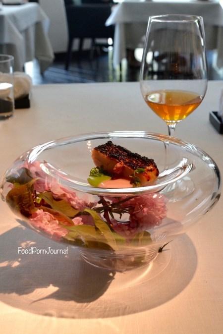 Narisawa Tokyo tilefish and matching tea