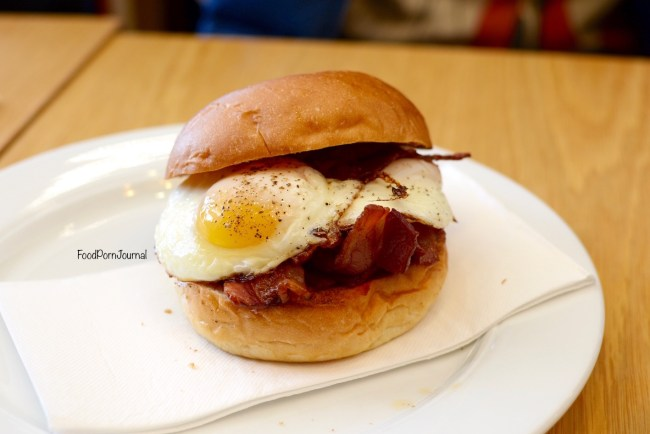 National Museum Australia cafe bacon egg roll