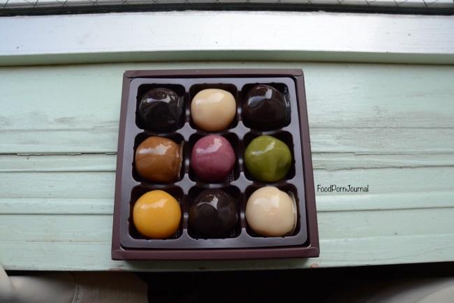 Tokyo Asakusa Nakamise balls filled with bean paste