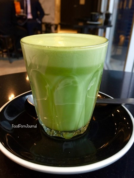 Maple and Clove matcha latte