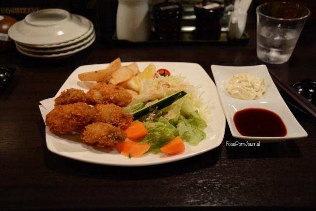 Japan Miyajima Island dinner oysters
