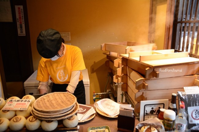 Japan Takayama Hida beef bun stall inside