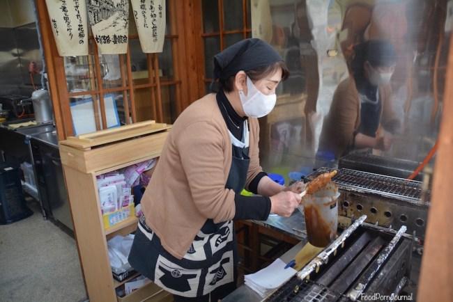 Japan Tsumago gohei mochi stand