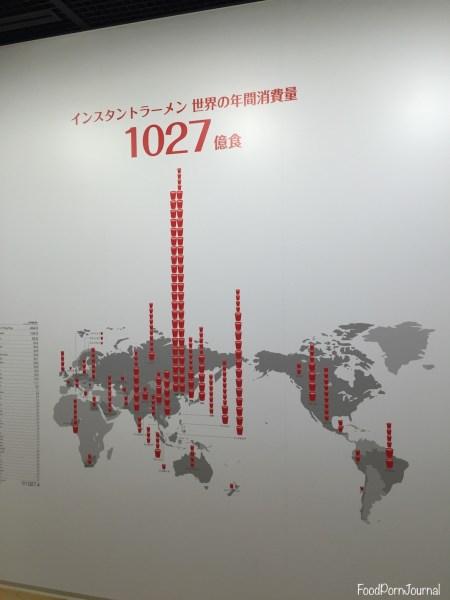 Osaka Japan Momofuku Cup Noodle Museum wall