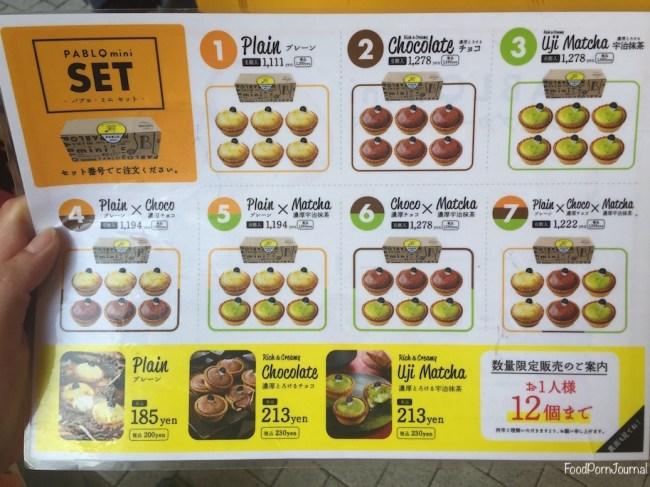 Tokyo Akihabara Pablo Mini menu