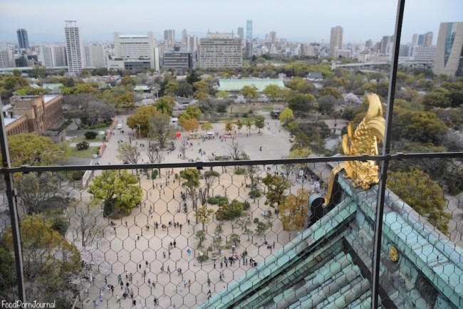 Osaka Japan Osaka Castle view from top