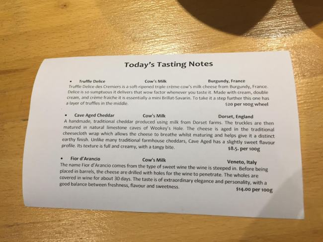 Swan Valley The Cheese Barrel tasting notes