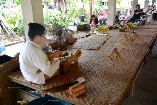Chiang Mai Bo Sang parasol making