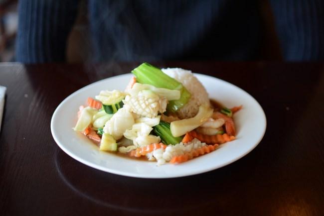 Coconine seafood stir fry