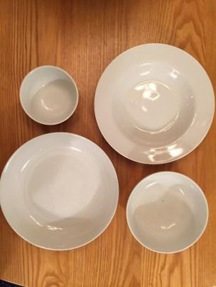 four bowl sizes