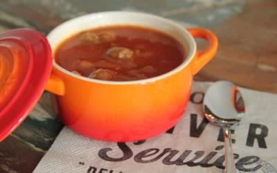 goed gevulde tomatensoep