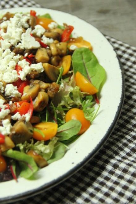 salade champignons en feta