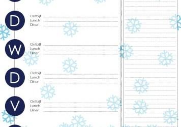 Sneeuwvlokjes weekmenu