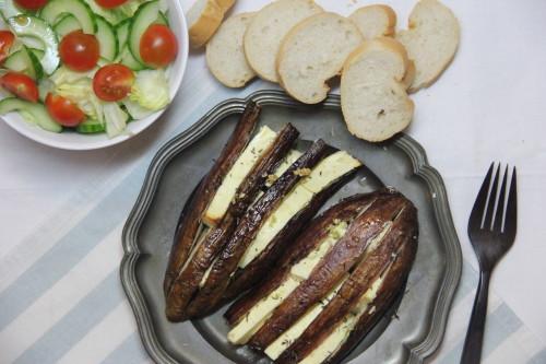 aubergine met feta uit de oven