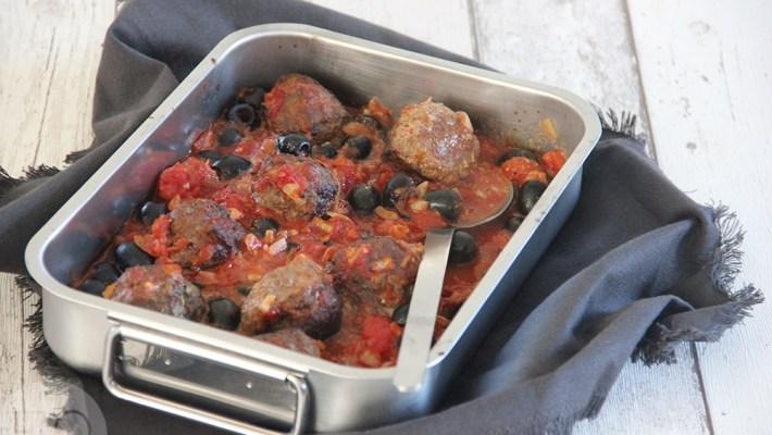 gehaktballen feta in tomatensaus