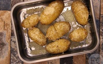 Hasselback aardappelen