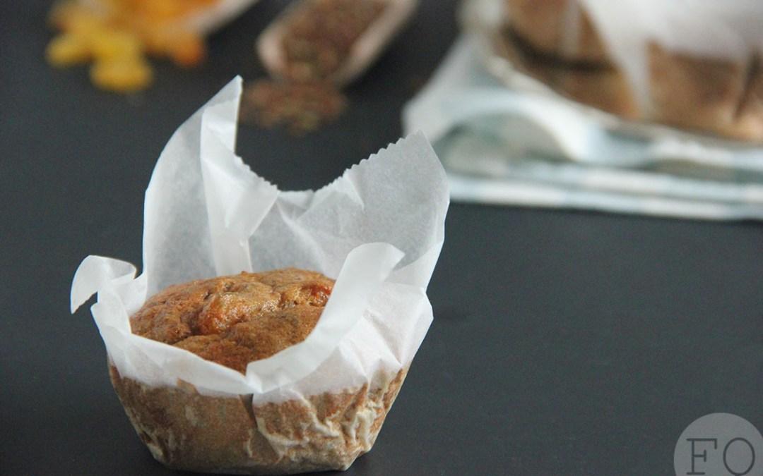 Havermoutmuffins met lijnzaad en rozijnen