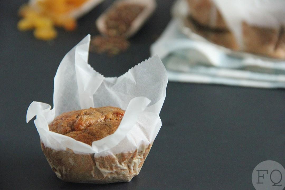 Havermoutmuffins lijnzaad en rozijnen