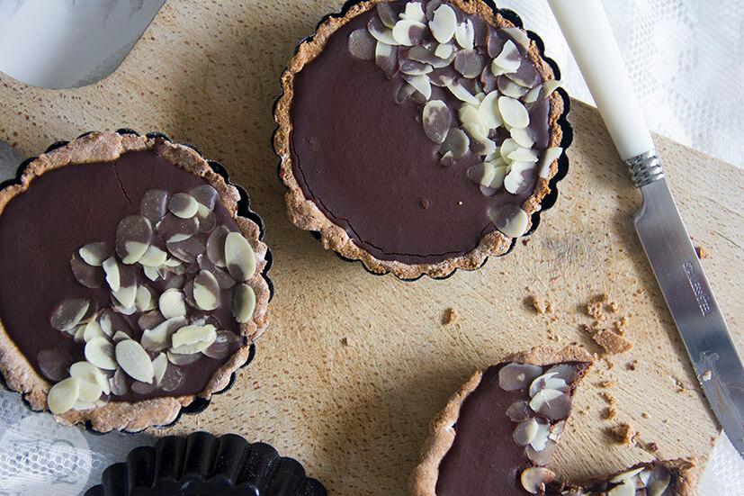 Paleo chocolade taartjes