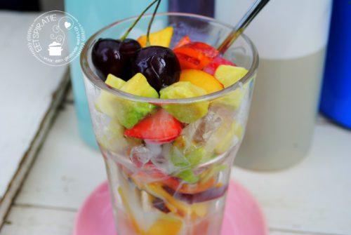 schaafijs en fruit