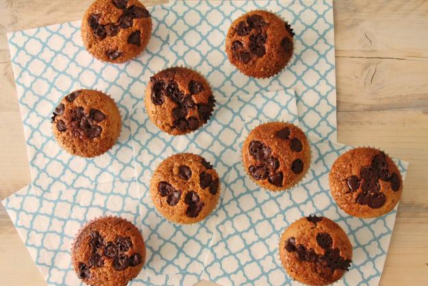 choco-chip cupcakes