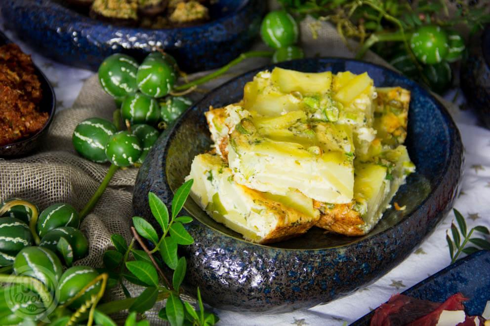 Aardappeltortilla uit de oven
