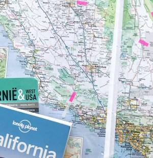 Voorbereiding vakantie californie