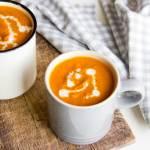 Tomatensoep met geroosterde knoflook