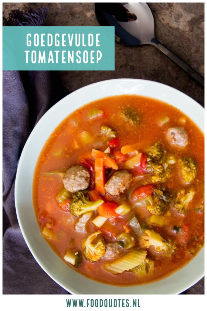 goedgevulde tomatensoep