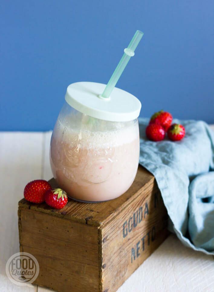 aardbei-vanille shake