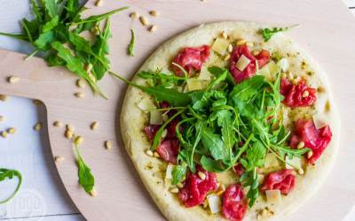 Carpaccio pizza