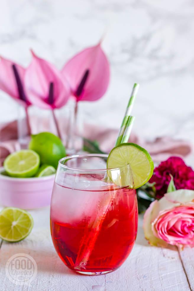 food styling pink mojito